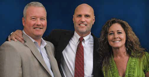 Matt Lahn, Bill Rossi and Shelly Ryan